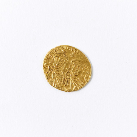 Byzantine Empire Gold Coin // 751-775 AD