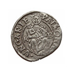 Medieval Coin with Madonna and Child