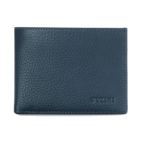 Bi-Fold Textured Wallet // Navy Blue