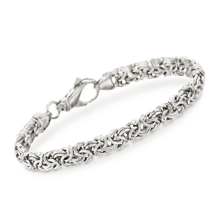 Stainless Steel New York Byzantine Bracelet
