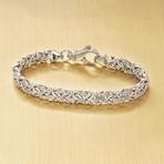 Stainless Steel New York Byzantine Bracelet