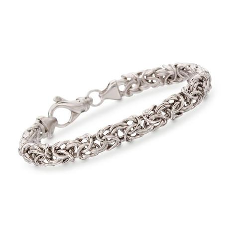 Italian Inspired Byzantine Stainless Steel Bracelet