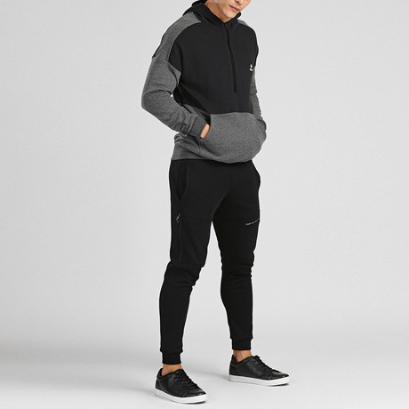 Karl Tracksuit // Black + Anthracite (S)