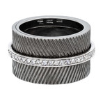 Nouvelle Bague Sterling Silver + 18k White Gold Diamond Ring // Ring Size: 7