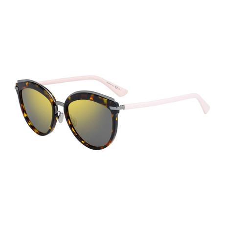 Women's Offset Sunglasses // Havana + Pink