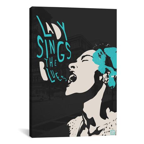 """Billie Holiday II // Elliot Griffin (26""""W x 40""""H x 1.5""""D)"""