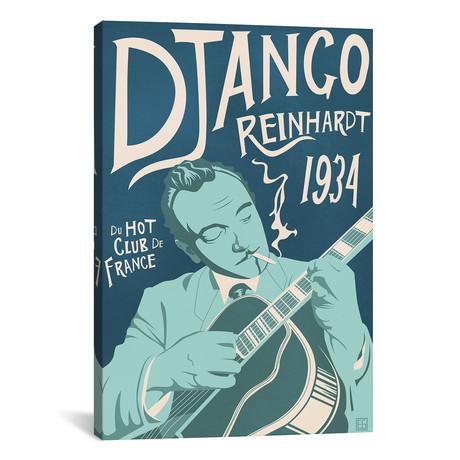 """Django Reinhardt // Elliot Griffin (26""""W x 40""""H x 1.5""""D)"""