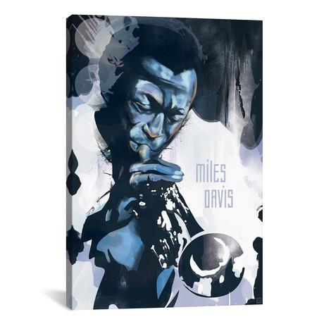 """Miles Davis // Elliot Griffin (26""""W x 40""""H x 1.5""""D)"""