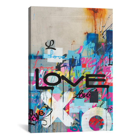 "Concrete Love // KBM (18""W x 26""H x 0.75""D)"