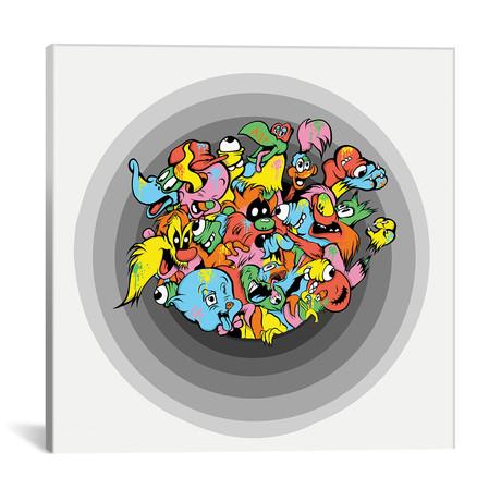 """Looney Goons // Kelo (18""""W x 18""""H x 0.75""""D)"""
