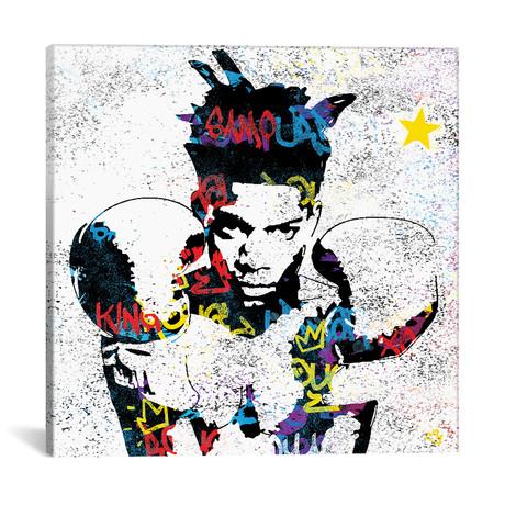 """Basquiat // Streetsky (18""""W x 18""""H x 0.75""""D)"""