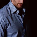 Slim Fit Fashion Check Shirt // Navy + White (2XL)