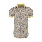 Pete Casual Short Sleeve Button Down Shirt // Yellow (XL)