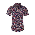 Waldo Casual Short Sleeve Button Down Shirt // Navy (S)
