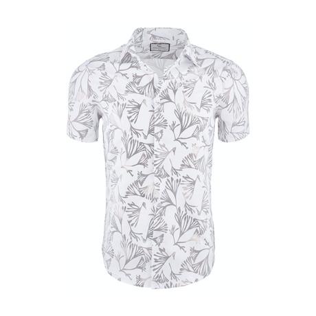 Sheldon Casual Short Sleeve Button Down Shirt // White (XS)