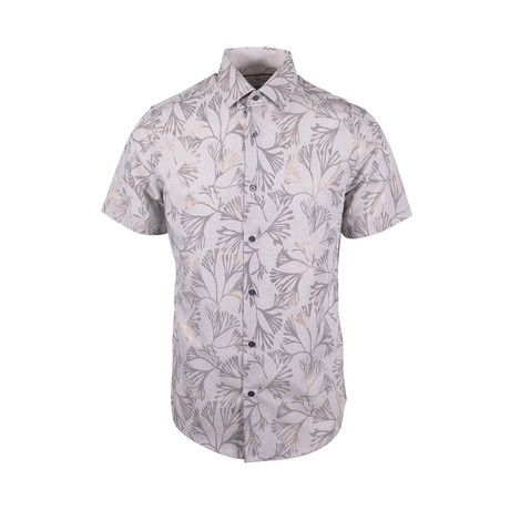 Tyree Casual Short Sleeve Button Down Shirt // Grey (XS)