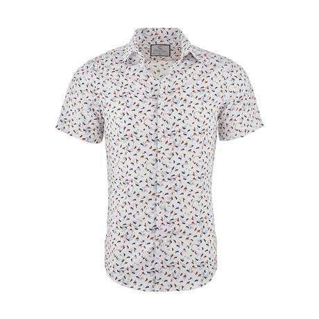 Mark Casual Short Sleeve Button Down Shirt // Beige (XS)