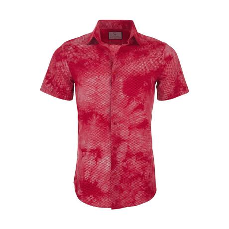 Nolan Casual Short Sleeve Button Down Shirt // Red (XS)