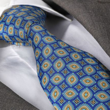 Malfoy Silk Tie // Blue + Yellow