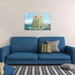 "Tower Of Babel In Blue Tones // Alexander Mikhalchyk (26""W x 18""H x 0.75""D)"