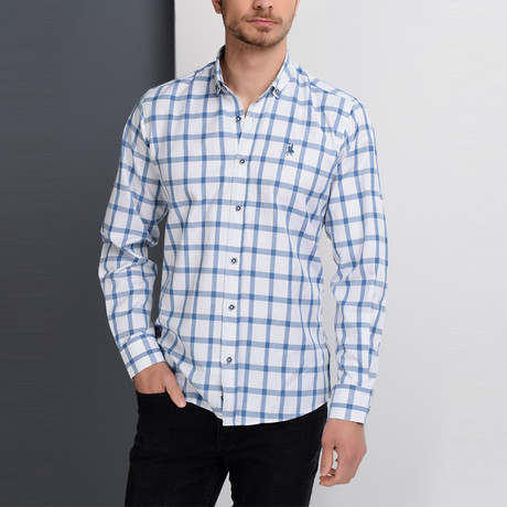 G649 Button-Up Shirt // Blue (S)