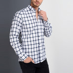 Lewis Button-Up Shirt // Dark Blue (Small)