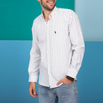 G671 Button-Up Shirt // White + Black (S)