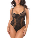 Chantal Bodysuit // Black (1X)