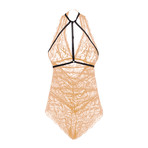 Odette Teddy // Nude + Black (S)