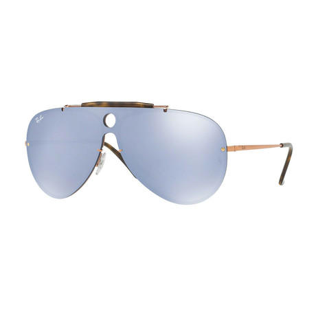 Men's Shield Sunglasses // Copper + Violet Blue