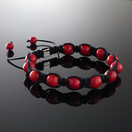 Coral Shamballa Bracelet (S)