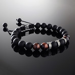 Red Tiger's Eye + Diamonds Bracelet (S)