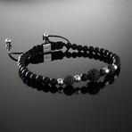 Trinity Sterling Silver + Matte Black Bracelet (Small)