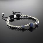 Blue Trinity Sterling Silver Bracelet (S)