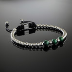 Malachite + Sterling Silver Bracelet (Small)
