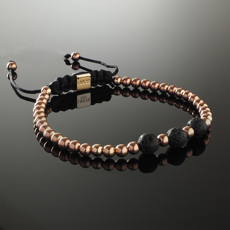 Lava + Rose Gold Bracelet (Small)