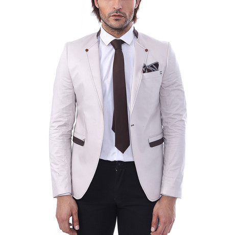 Curtis Slim Fit Blazer // Cream (Euro: 44)