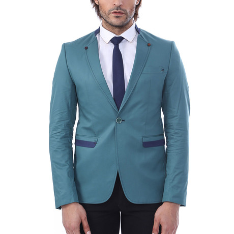 Anthony Slim Fit Blazer // Green (Euro: 44)