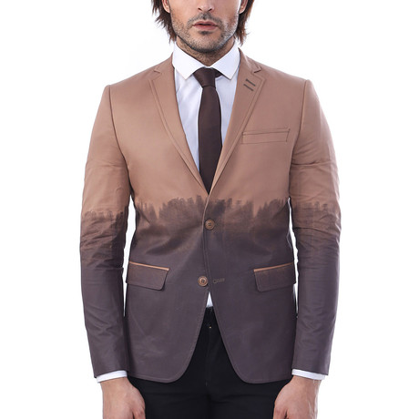 Judas Slim Fit Blazer // Brown (Euro: 44)