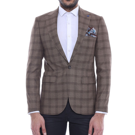Soras Slim Fit Blazer // Brown (Euro: 44)