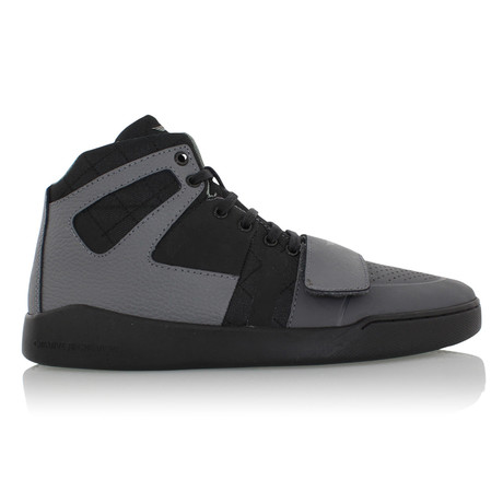 Manzo Classic High Top Sneakers // Gray + Black (US: 7)