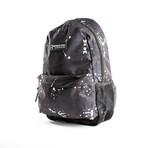 Splatter Print Backpack // Black
