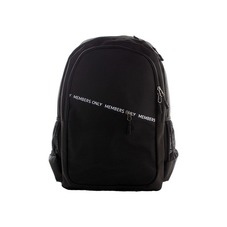 Diagonal Zip Backpack // Black