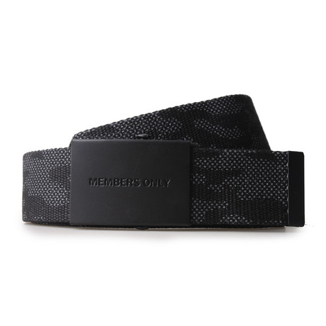 Canvas Belt // Black Camo