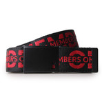 Reversible Double Faced Belt // Red + Charcoal