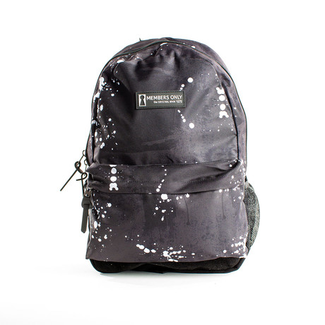 Splatter Print Backpack // Black