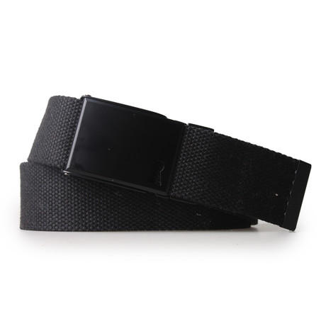 Reversible Double Faced Belt // Charcoal + Black