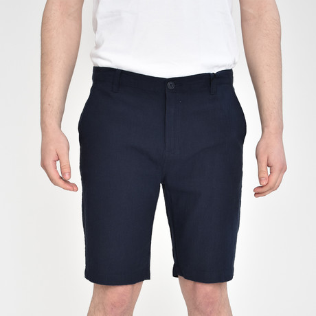 Luxury Linen Feel Shorts // Dark Navy (30)