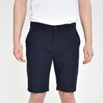 Luxury Linen Feel Shorts // Dark Navy (32)