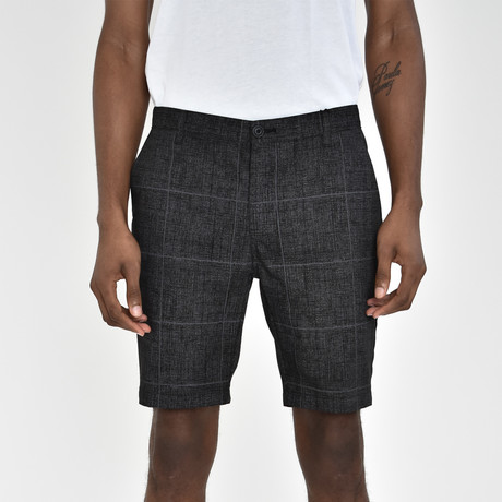 Windowpane Shorts // Charcoal (30)